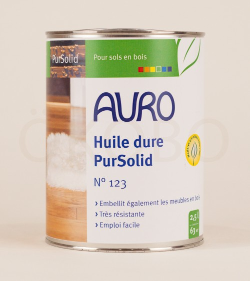 Huile dure PurSolid N°123 - 2,5l - AURO
